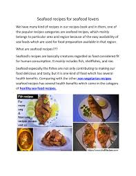 Seafood recipes for seafood lovers by ...