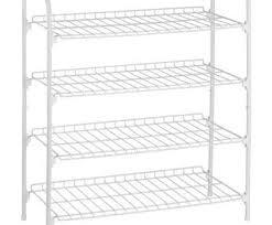 hanging wire rack shelving popular honey do 4 tier wire shoe accessory shelf