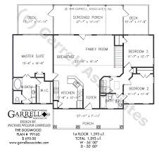 dogwood house plan plans by garrell associates inc within kitchen in front