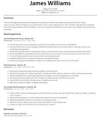 Bookkeeper Resume Sample Resume Templates