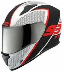 Studds Thunder D3 With Mirror Visor Matt White N2 Full Face Motorsports Helmet