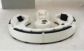 Details Zu Rundsofa Runde Big Xxl Couch Eck Sofa Leder Garnitur Wohnlandschaft Rund Blance