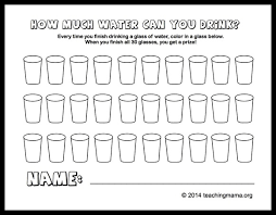 How Much Water Should I Drink Chart Tips To Help Your Kids Drink More Water
