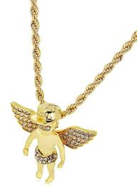 details about gold angle luxury pendant rope chain necklace heavy iced out bling solid boys uk