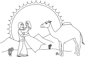 Isaac And Rebekah Coloring Page Our Bible Coloring Pages Bible