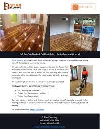 High Class Floor Sanding Polishing In Sydney Starting