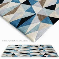 cologne geometric wool rug 3d model max obj fbx 1
