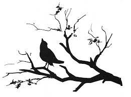 bird branch silhouette clip art.  Silhouette Bird On A Branch Silhouette At GetDrawings Clipart  Intended Clip Art P