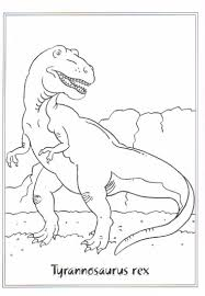 Coloring Page Dinosaurs 2 Tyrannosaurus Rex Classroom