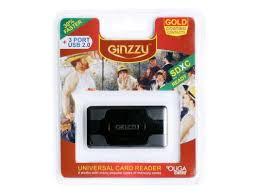 Карт-ридер USB 2.0 <b>Ginzzu</b> + Hub 3 port, <b>Black</b> (<b>GR</b>-<b>417UB</b> ...