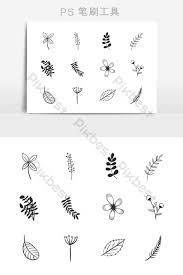 Branch Template Brush Brush Plant Leaf Branch Pattern Template Free
