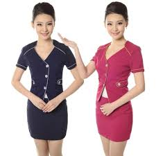2016 stewardess service professional set skirt work wear ol front desk female short sleeve hotel