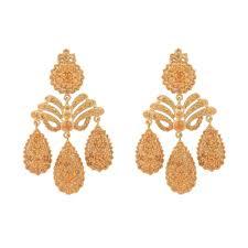 sylvie corbelin women s metallic garnet chandelier earrings