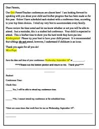 letter from teacher to parents parent teacher conference confirmation letter to parents by