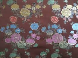 Floral Brocade Details About 2 3 Yard Of Brown Floral Brocade Fabric Asian