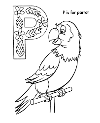 Small Picture ABC Alphabet Coloring Sheets ABC Parrot Animals coloring page