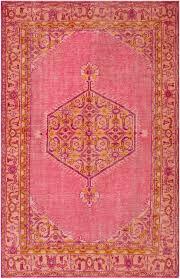 area rugs saida mpi8661 rug hot pink burnt orange gold 3