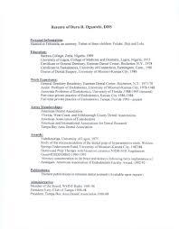 Template Charming Orthodontist Resume Sample Objective Examples