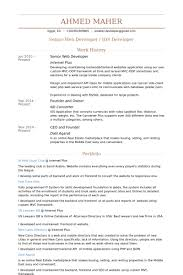 web developer resume examples. Senior Web Developer Resume samples VisualCV resume samples database