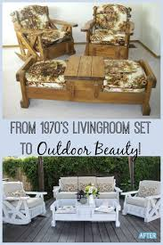 diy wood living room furniture. Simple Room I Have Seen These 1970u0027s Living Room Sets In Thrift Stores And Passed Them   Inside Diy Wood Living Room Furniture