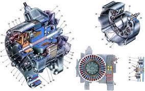 Курсовая работа Устройство и эксплуатация генератора Г  Максимальная сила тока отдачи генератора при 14 В и 5000 об мин составляет 42 А Генератор установлен на двигателе с правой стороны и приводится во