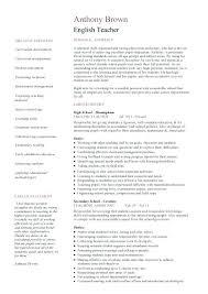 English Teacher Resume Sample Download Teacher Cover Letter Sample