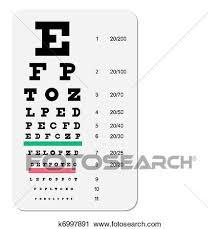 Snellen Eye Chart Clipart K6997891 Fotosearch