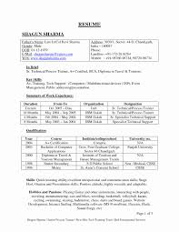 Mba Marketing Resume Format For Freshers New 100 Free Download