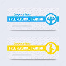 Personal Training Gift Certificate Template Free Personal Training Gift Voucher Design For Gym Fitness Club 4