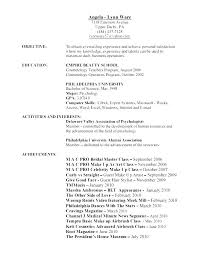 Sample Cosmetology Resume Custom Sample Resume For Cosmetologist Putasgae