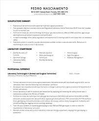 Lab Technician Resume Template 11 Free Word Pdf Document