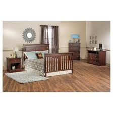 Child Craft Bradford 4 in 1 Convertible Crib Bed Rails Tar