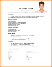 Captivating Resume Format Sample Philippines In Sample Resume For