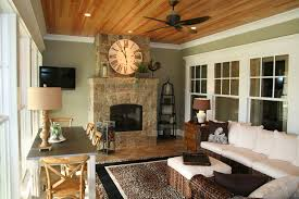 sunroom with fireplace. sunroom with fireplace traditional brown stone floor ceiling