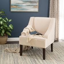 velvet accent chair. Homepop Swoop Arm Velvet Accent Chair Cream