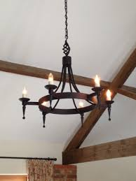 hand forged wrought iron aldwick smooth point and ball 6 light chandelier