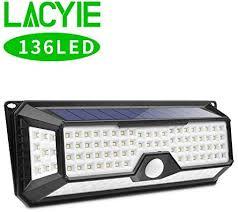 4x <b>136LED Solar</b> Lights <b>Outdoor</b> Wireless 4 Sides Garden Security ...