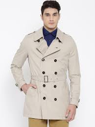 he by mango 73080037 6 h e by mango beige double ted smart fit waterproof trench coat in india