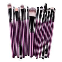 15 pcs sets makeup brushes set eye shadow pro foundation eyebrow lip brush pro makeup