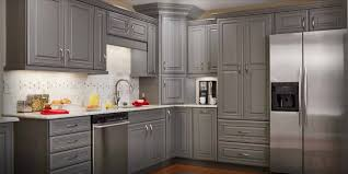 Simple Ideas Gray Stained Cabinets Dark Best Home Furniture Design