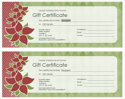 These free personalized printable holiday gift certificate templates allow you to give the gift of you! Get A Free Gift Certificate Template For Microsoft Office