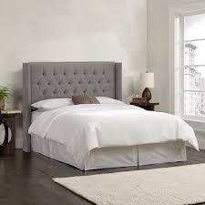 gray full headboard. Fine Headboard Skyline Furniture Linen Grey Diamond Tufted Wingback Headboard To Gray Full