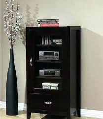 small audio cabinet small stereo cabinet contemporary espresso finish wood drawer glass door audio storage cabinet
