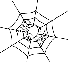 Small Picture Spider Web Coloring Pages 2 Spider In The Center Of A Coloring