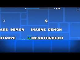 Geometry Dash Demon Difficulty Chart