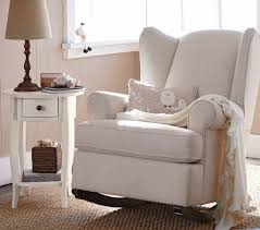 wingback rocker this i like and you can stationary feet for when you are done using it as a rocking chair doesn recline though