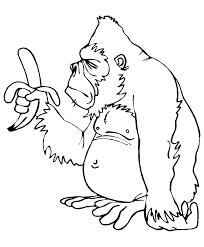 15 Dessins De Coloriage Singe Avec Banane Imprimer Dessin A Colorier Gorille A Imprimer Voir Le Dessin L