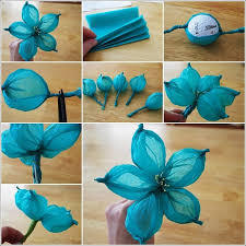 Flower Making With Crepe Paper Step By Step Diy Paper Flower Tutorial Step By Step Instructions