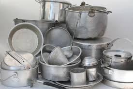 aluminum kitchen utensils.  Aluminum Huge Lot Vintage Aluminum Pots U0026 Pans Camp Kitchen Cookware For Camping  Campfire Cooking Inside Aluminum Kitchen Utensils