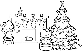 Small Picture Christmas Coloring Templates KittensColoringPrintable Coloring